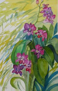Purple Orchids by Woo Oi Leng